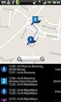 Screenshot of Go2 Rennes (bus, vélo, métro)
