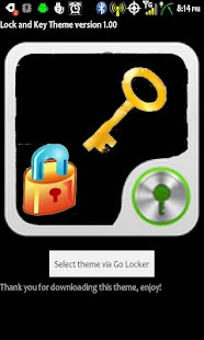 GoLocker Lock and Key Theme - screenshot thumbnail
