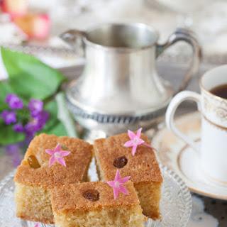 Cardamom Semolina Cake with Rosewater Syrup.