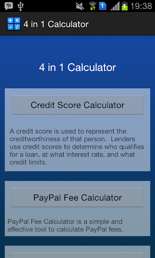 Awesome 4 in 1 Calculator