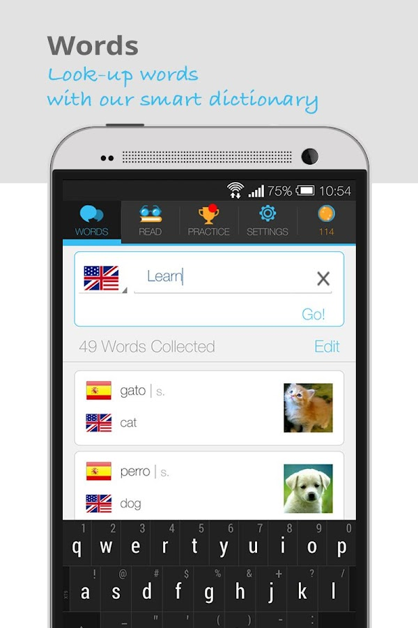 Lingualy - Practice a Language- screenshot
