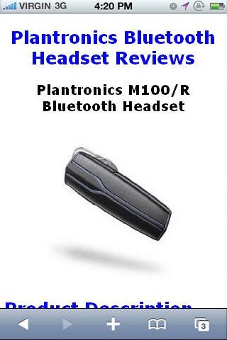 M100R Bluetooth Headset Review