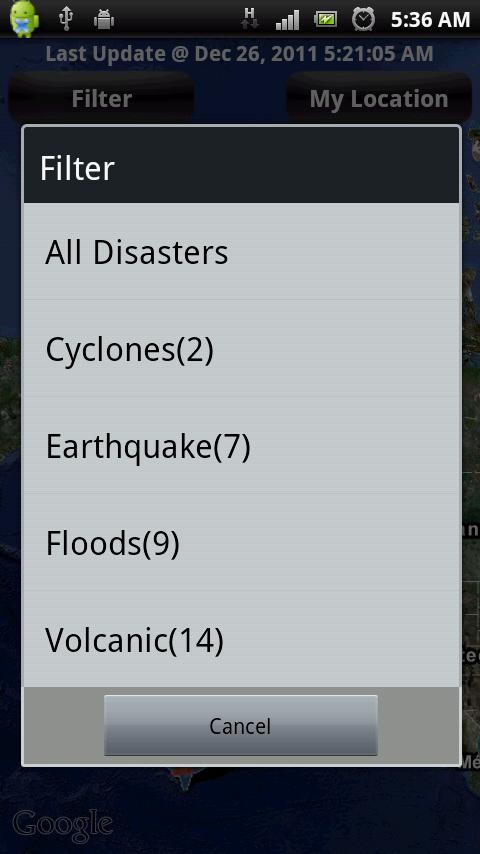 Earthquakes- screenshot