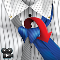 Tie Knots in split color video icon