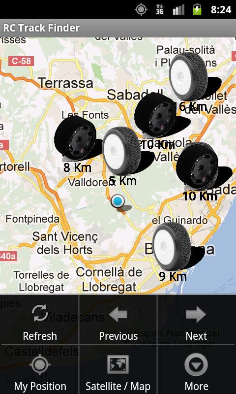 RC Track Finder- screenshot