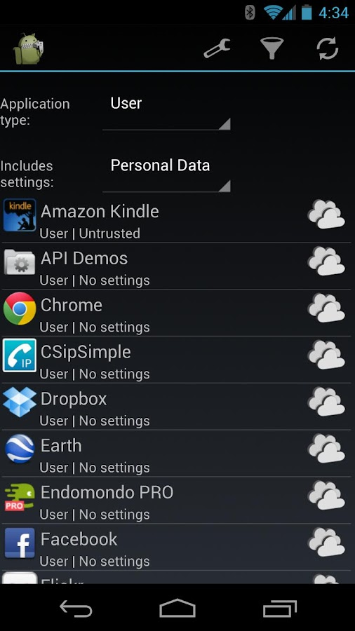 PDroid Manager - screenshot