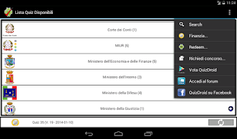 Screenshot of QuizDroid - CONCORSI