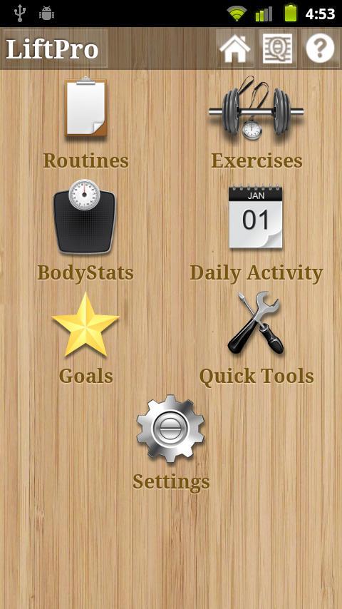 LiftPro 3 Fitness Tracker - screenshot