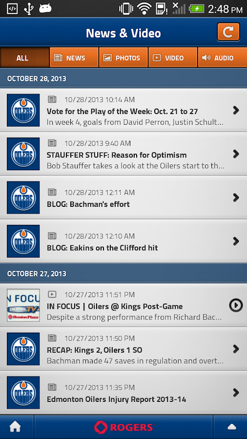 Edmonton Oilers Mobile - screenshot