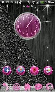 Go Launcher Pink Cheetah theme - screenshot thumbnail