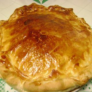 Potato, Ham, and Bacon Puff Pastry Pie.