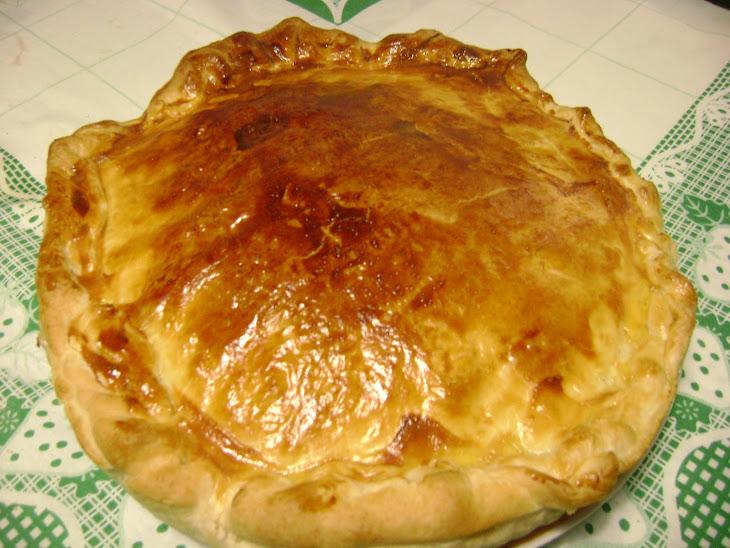 Potato, Ham, and Bacon Puff Pastry Pie Recipe