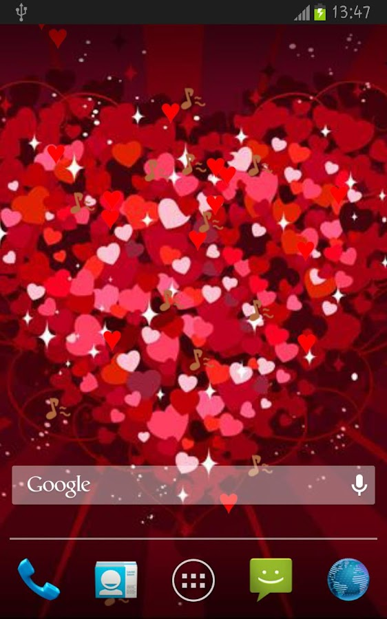 Playful Hearts LWP- screenshot