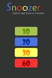 Snoozer - simple snooze app- screenshot thumbnail