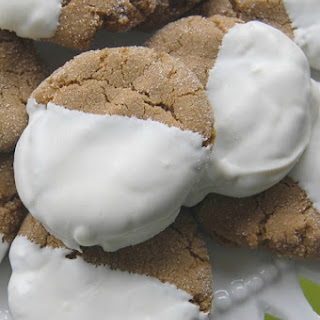 Holiday Tea – Asian Style and White Chocolate Dipped Gingersnaps.