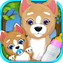 Newborn Baby Puppy & Mommy icon