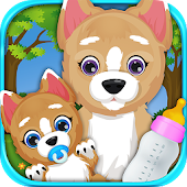Newborn Baby Puppy & Mommy Dog Virtual Pet Animals