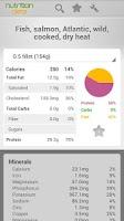Screenshot of Nutrition Data