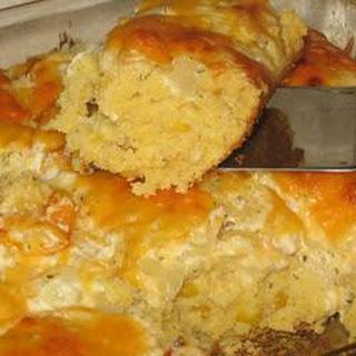 Savory Onion Corn Bread.