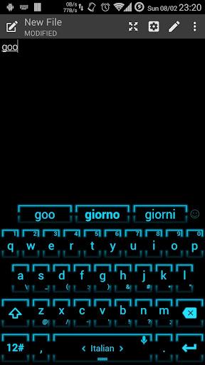 Keyboard Theme Neon 2 Cyan for PC