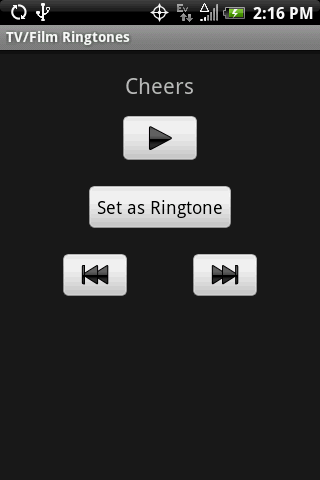 TV/FILM Ringtones - screenshot