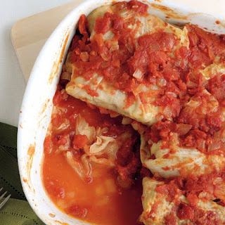 Stuffed Cabbage with Beef and Rice.