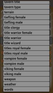 Generate Fantasy Names - AppRecs