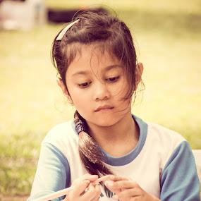 I want to create my imagination by Nur Saputra - Babies & Children Children Candids