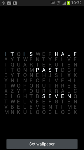 【免費生活App】Text Clock Wallpaper-APP點子