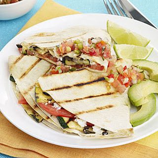 Grilled Zucchini, Tomato and Goat Cheese Quesadillas
