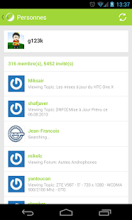 Forum FrAndroid (beta) Capture d'écran