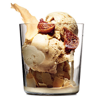 Coffee-Cardamom Ice Cream with Figs
