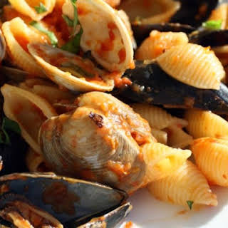 Provençal Mussels and Clams Over Shells.