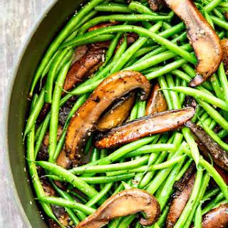 Garlic Green Beans and Portobellos with Parmesan
