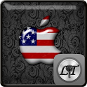 American Flag Apple Go Locker logo
