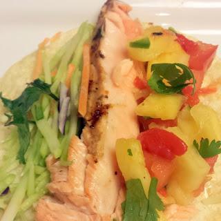 Mexican Grilled Salmon Fajitas