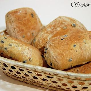 Black Olive Bread Rolls.