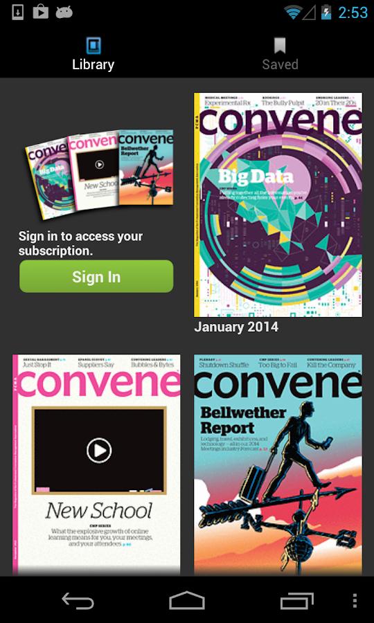 PCMA Convene Magazine - screenshot
