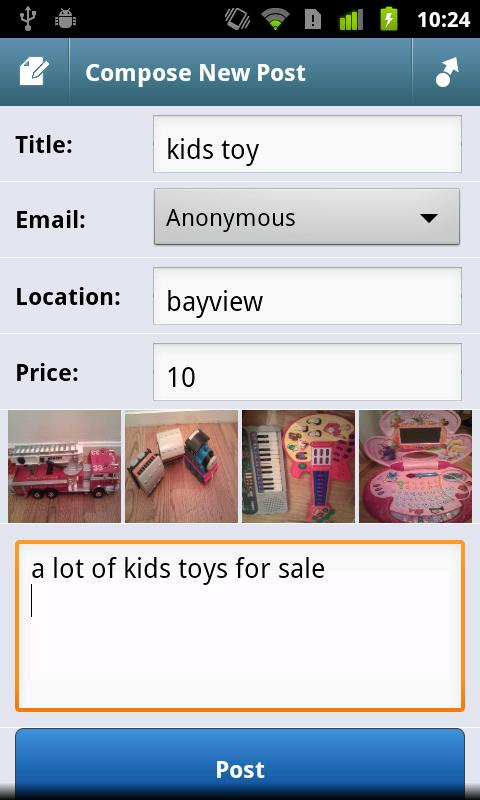 CityShop - App for Craigslist - screenshot