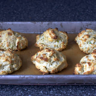 Blue Cheese Scallion Drop Biscuits.