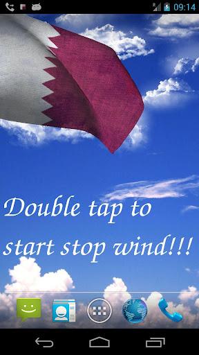 3D Qatar Flag Live Wallpaper