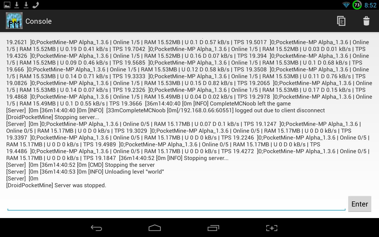 PocketMine Server- screenshot