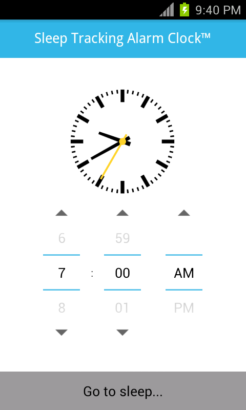 Sleep Tracking Alarm Clock- screenshot