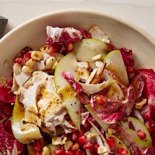 Radicchio Salad with Turkey, Pear, and Pomegranate