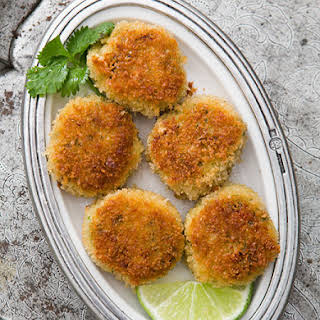 Crab Cakes with Ginger and Lime.