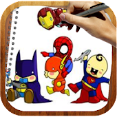 Coloring Book Super Heroes Kid