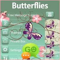 GO SMS Butterflies