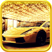 Luxury Golden Cars LWP