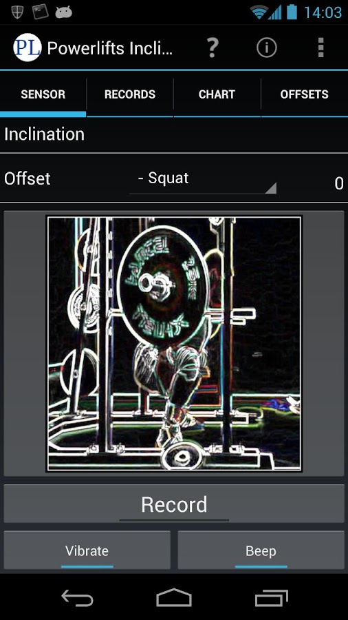 Powerlifting Inclinometer- screenshot