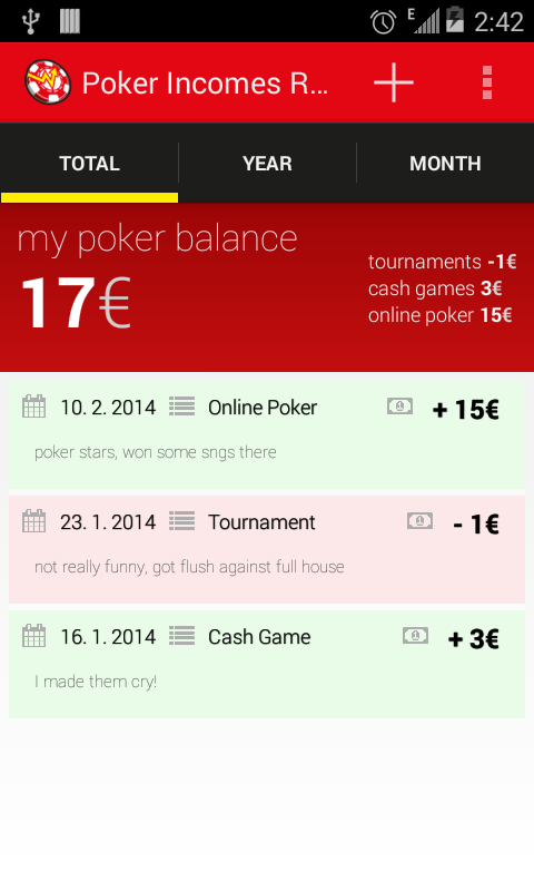 Poker Incomes Reports - Android Apps on Google Play